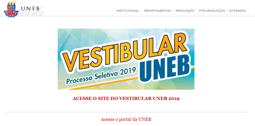 Inscrições vestibular UNEB 2020
