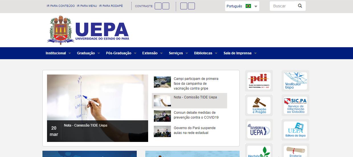 Site Oficial UEPA