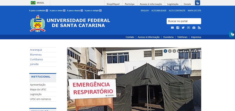 Portal da Universidade Federal de Santa Catarina